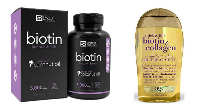 Biotin Oil for Hair growth with collagen and coconut oil