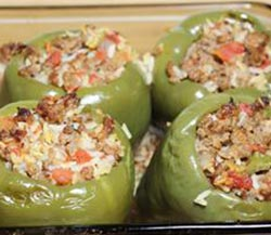 How to cook bell pepper by stuffing and baking