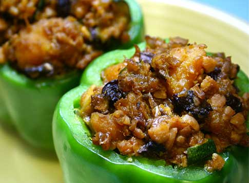 Stuffed Green Bell Pepper, How to Make Recipes