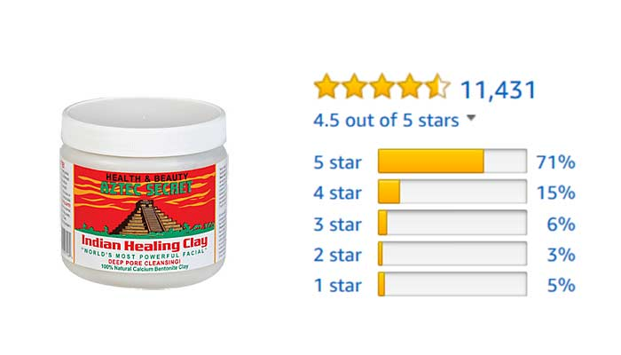 Aztec clay mask Amazon customer reviews and rating