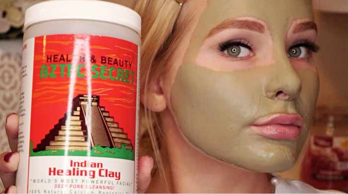 aztec clay mask benefits hair skin face acne recipes and reviews
