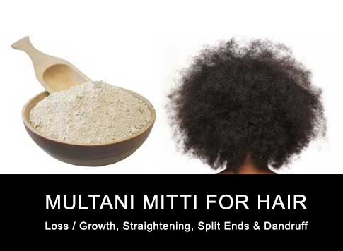 Multani Mitti Hair Loss Straightening Removal Split Ends