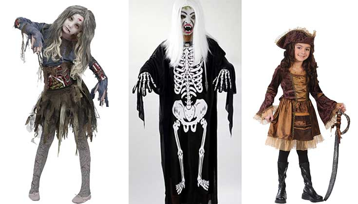 scary halloween costumes for girls kids