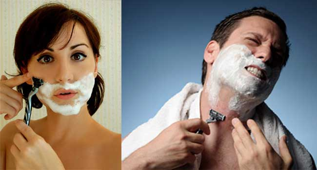 Get rid of ingrown facial hair