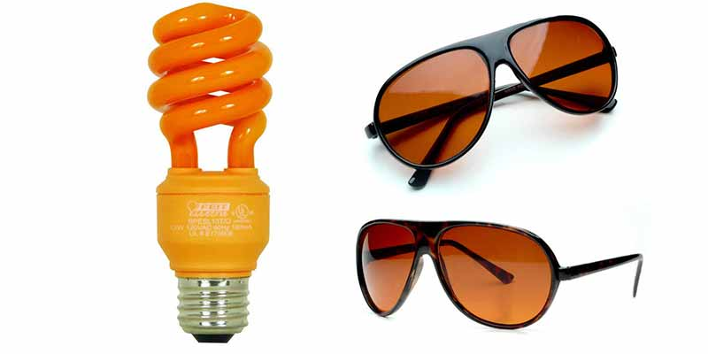 Amber-Light-Bulbs-Sunglasses-block-Blue-light-at-Night