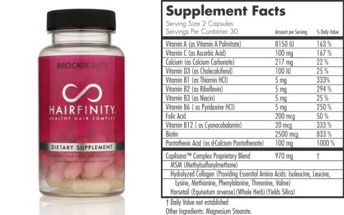 Hairfinity Ings Supplement Facts Does It Work