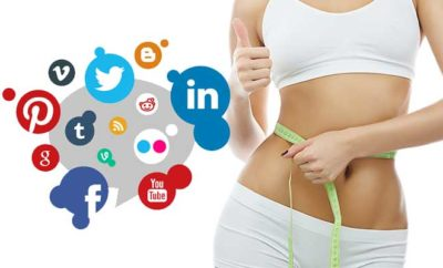 lose weight using social media