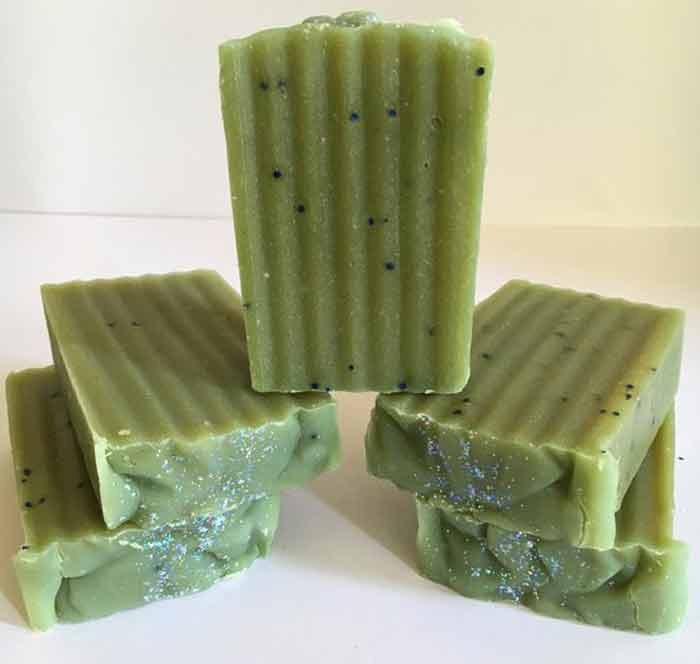 french green clay soap, recipe and benefits